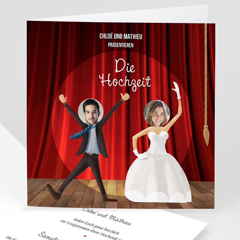 Humorvolle Hochzeitskarten  - Theater 42685 thumb