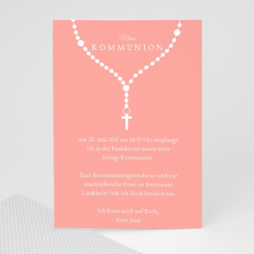 Einladungskarten Kommunion Mädchen - Ave Maria 42706