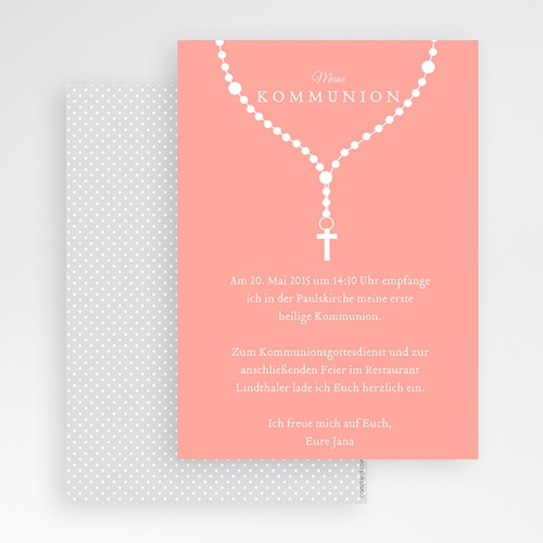 Einladungskarten Kommunion Mädchen - Ave Maria 42708 test