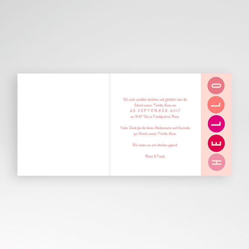 Geburtskarten für Mädchen Pünktchen in Rosa pas cher