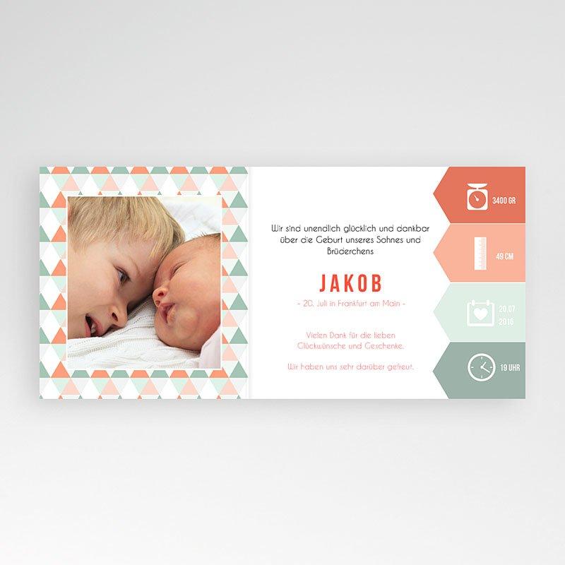 Geburtskarten für Mädchen Zick-Zack pas cher