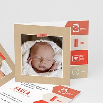 Geburtskarten für Mädchen Notizen