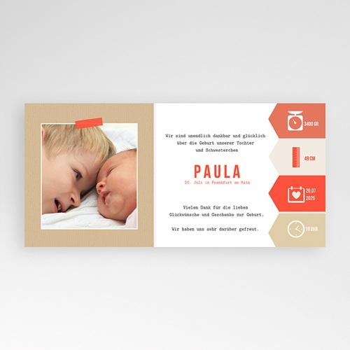 Geburtskarten für Mädchen Notizen pas cher