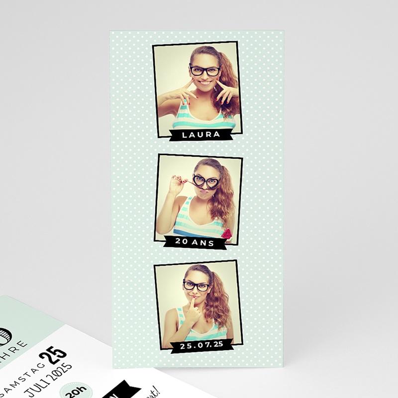 Erwachsener Einladungskarten Geburtstag Serie Fotoautomat