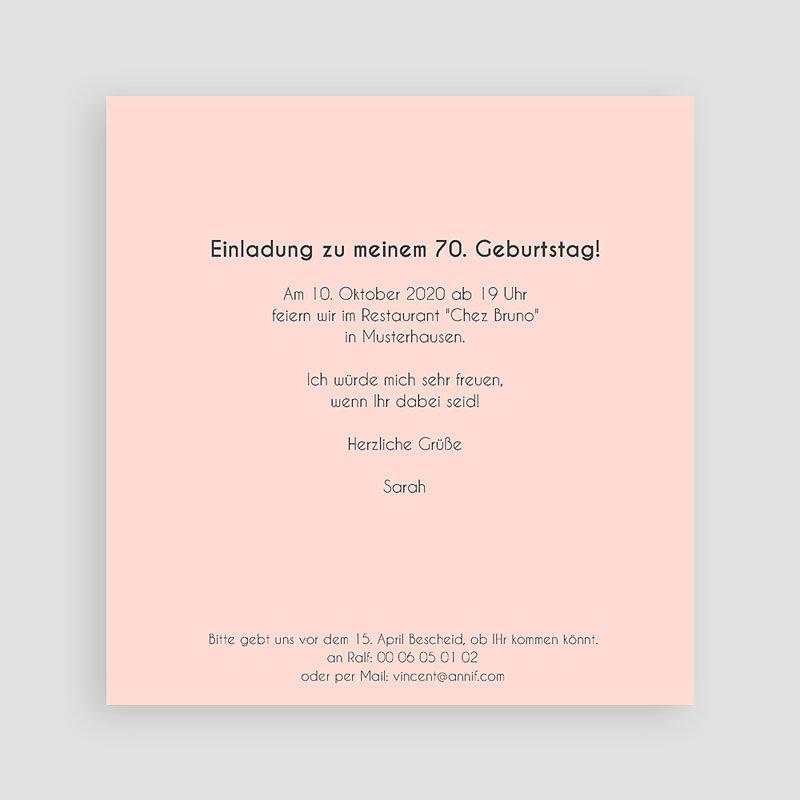 Erwachsener Einladungskarten Geburtstag 70 Jahre Tafelkreide pas cher