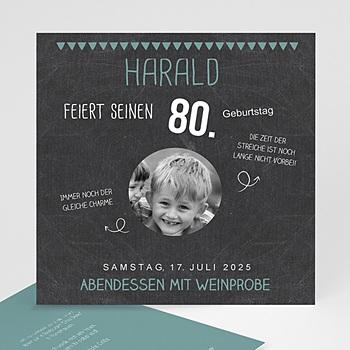 Runde Geburtstage - 80 Jahre Schiefertafel - 0