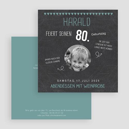 Runde Geburtstage - 80 Jahre Schiefertafel 42752 test