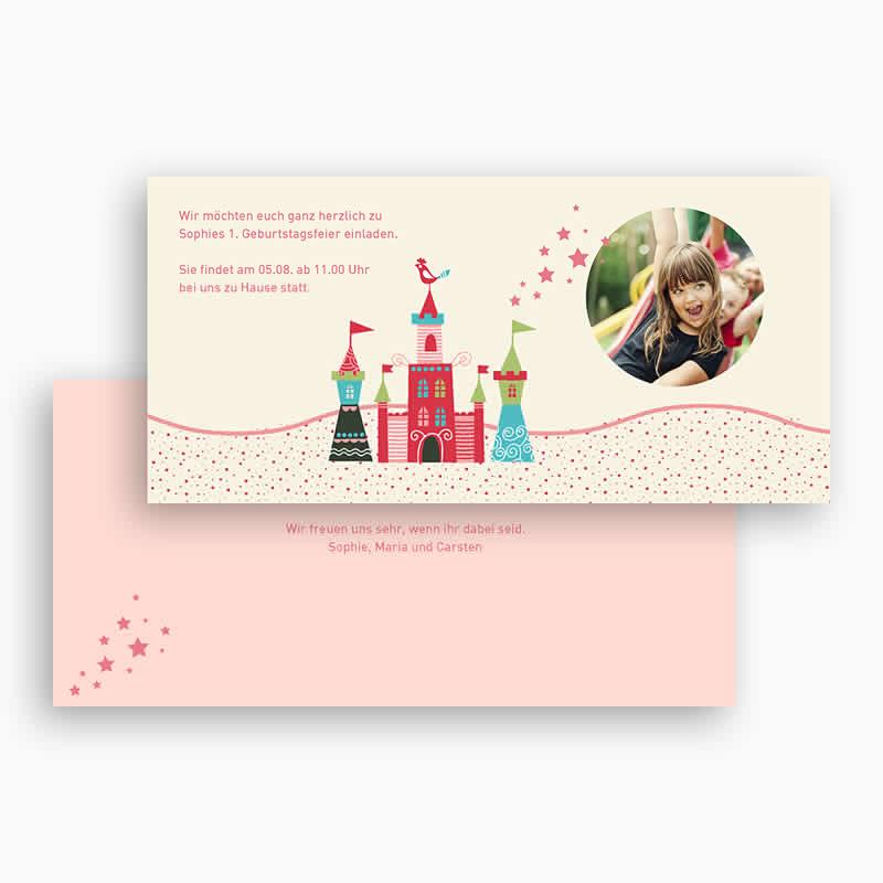 Geburtstagseinladungen Mädchen Schloss gratuit