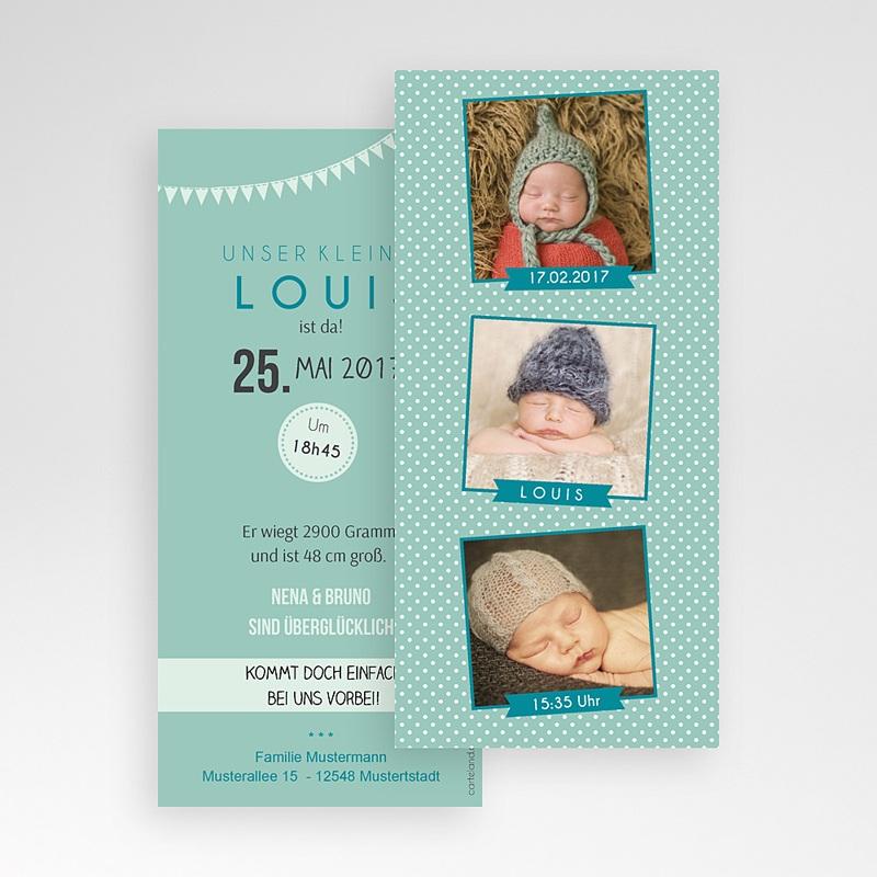 Geburtskarten für Jungen Fotoautomat pas cher