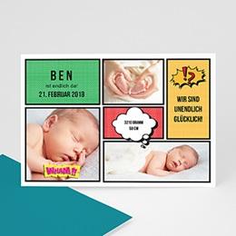 Babykarten für Jungen - Comic - 0