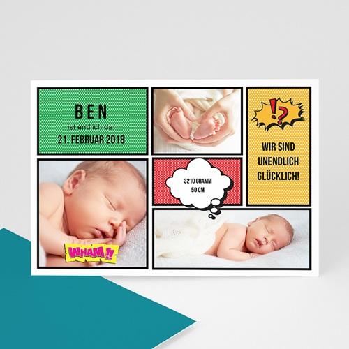 Babykarten für Jungen - Comic 42774