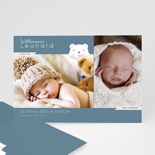 Geburtskarten mit Bär Herr Bär