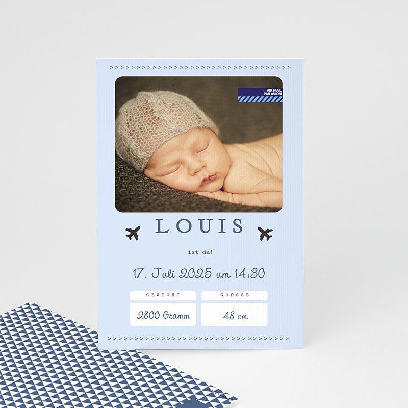 Geburtskarten für Jungen Flugzeug