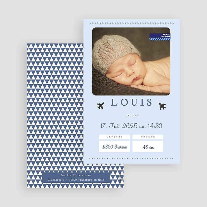 Geburtskarten für Jungen Flugzeug gratuit