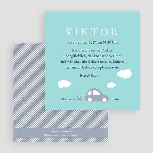 Blau Geburtskarten Car gratuit