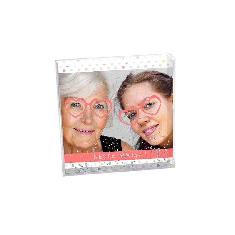 Personalisierte Foto-Schneekugel Brillenpaar