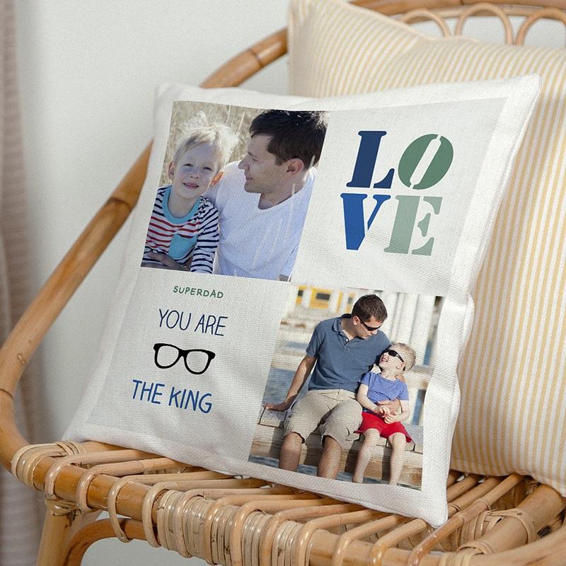 Personalisierte Foto-Kissen Papa's Love