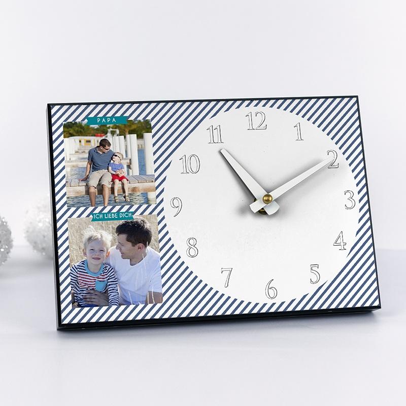 Personalisierte Fotouhr Papas