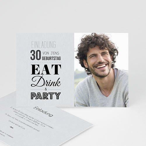 Erwachsener Einladungskarten Geburtstag Eat, Drink and Party