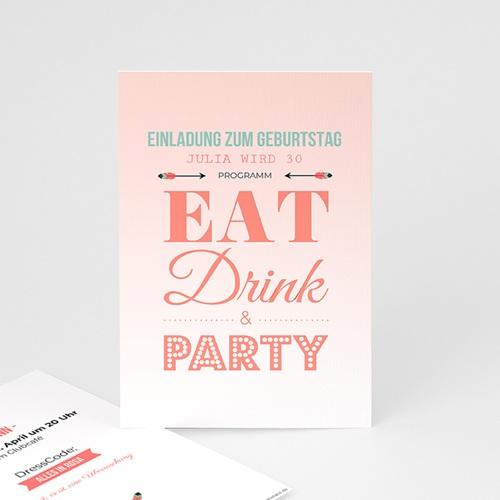 Erwachsener Einladungskarten Geburtstag Die Party steigt