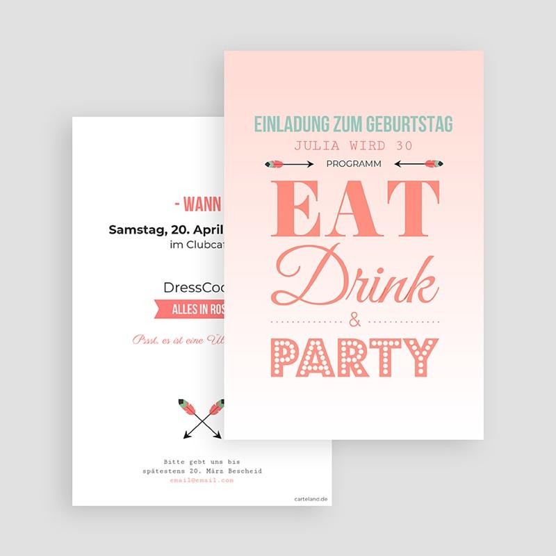 Erwachsener Einladungskarten Geburtstag Die Party steigt gratuit