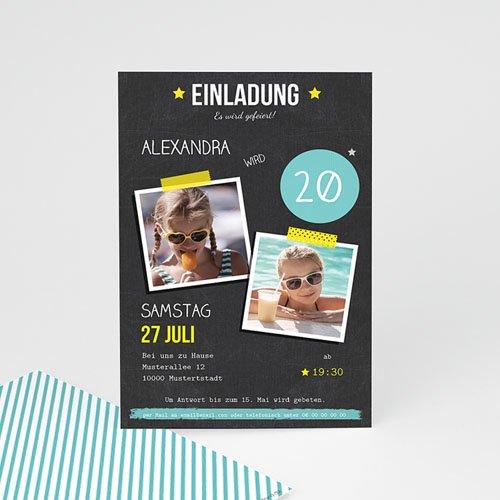 Erwachsener Einladungskarten Geburtstag Pop 20