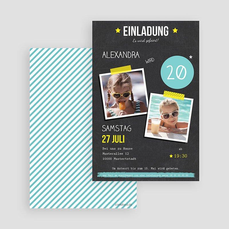Erwachsener Einladungskarten Geburtstag Pop 20 gratuit