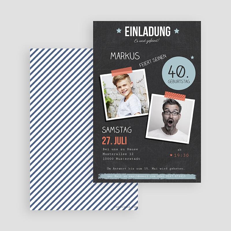 Erwachsener Einladungskarten Geburtstag Pop 40 gratuit