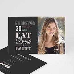 Einlegekarte Anniversaire adulte Design Typografie
