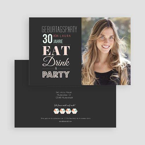 Runde Geburtstage Design Typografie gratuit