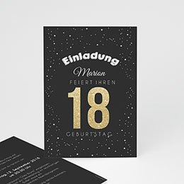 Einlegekarte Anniversaire adulte Goldene 18
