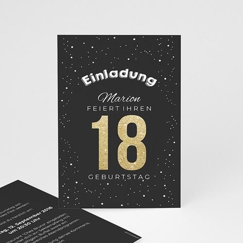 Erwachsener Einladungskarten Geburtstag Goldene 18