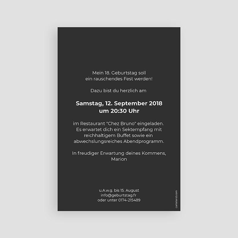 Erwachsener Einladungskarten Geburtstag Goldene 18 pas cher