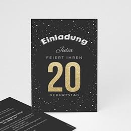 Einlegekarte Anniversaire adulte Goldene 20