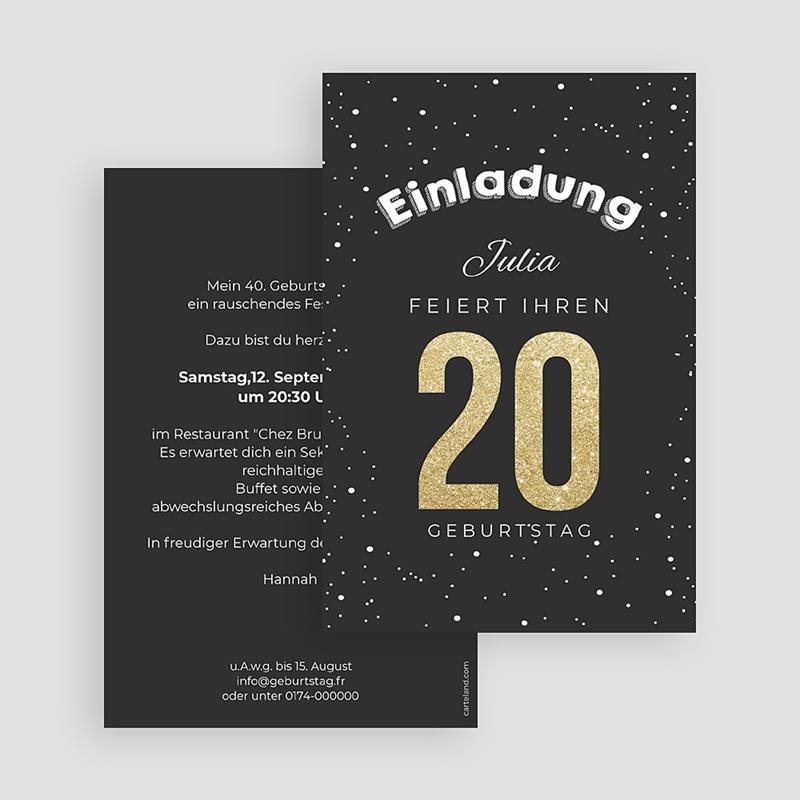 Runde Geburtstage - Goldene 20 43055 thumb
