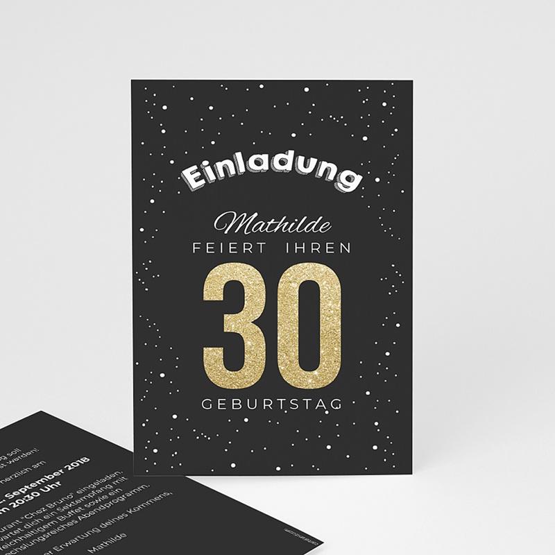 Erwachsener Einladungskarten Geburtstag Goldene 30