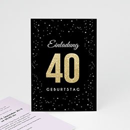 Einlegekarte Anniversaire adulte Festliche 40