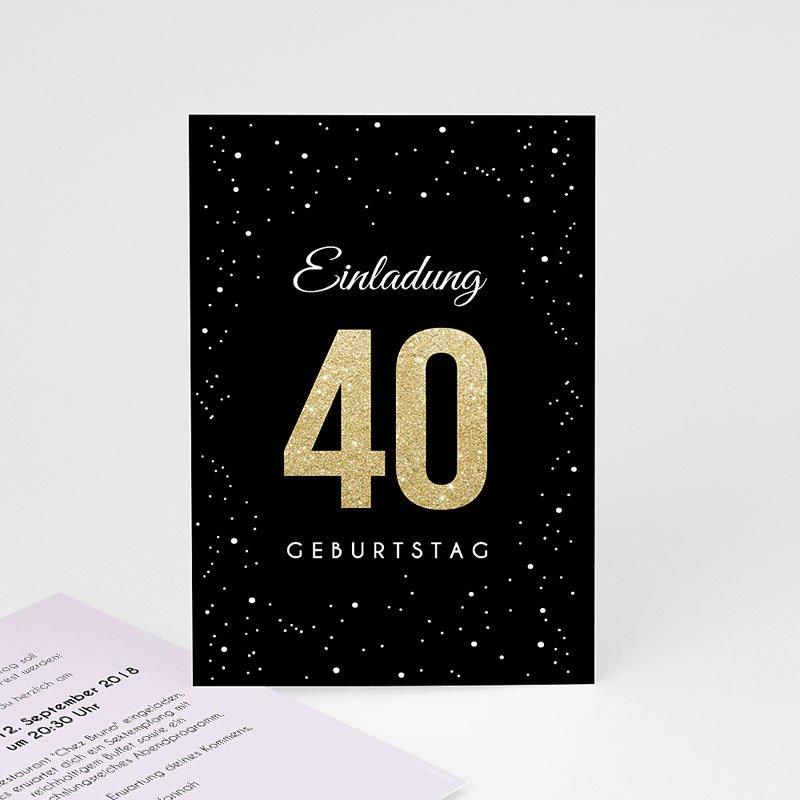 Erwachsener Einladungskarten Geburtstag Festliche 40