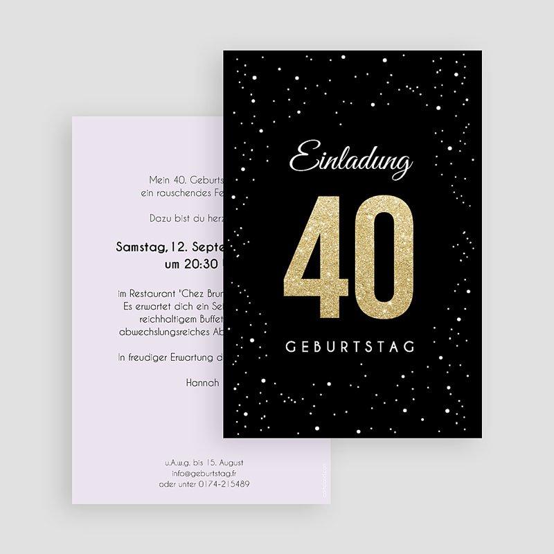 Erwachsener Einladungskarten Geburtstag Festliche 40 gratuit