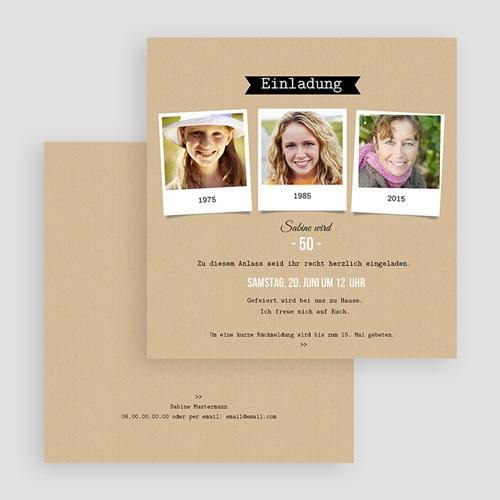 Erwachsener Einladungskarten Geburtstag Polareihe gratuit
