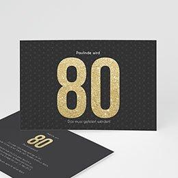 Einlegekarte Anniversaire adulte Goldene 80er