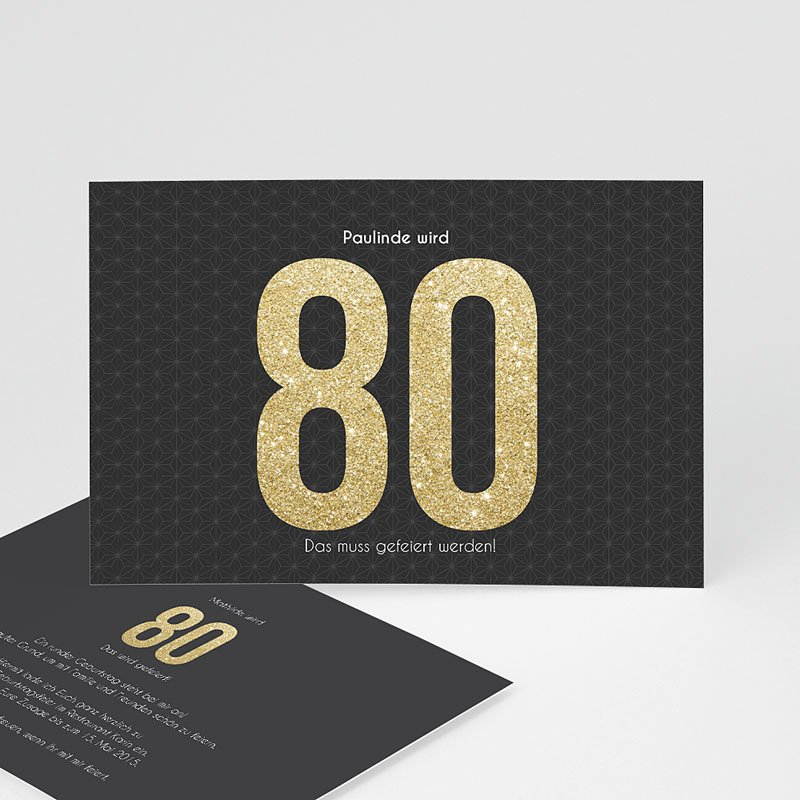 Erwachsener Einladungskarten Geburtstag Goldene 80er