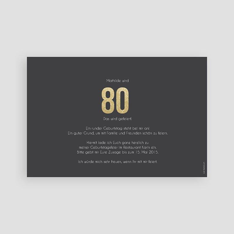 Erwachsener Einladungskarten Geburtstag Goldene 80er pas cher