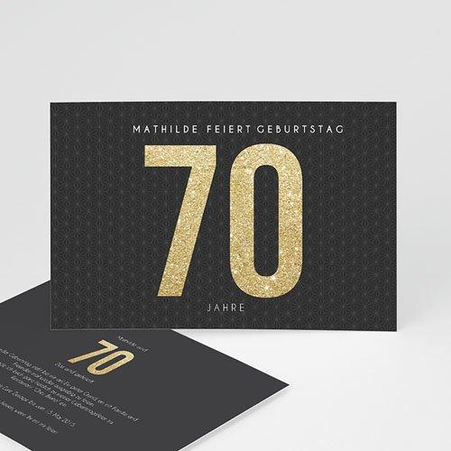 Erwachsener Einladungskarten Geburtstag Goldene 70er