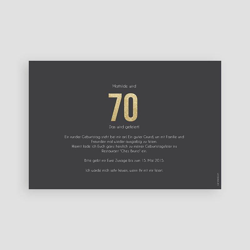 Erwachsener Einladungskarten Geburtstag Goldene 70er pas cher