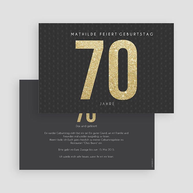 Erwachsener Einladungskarten Geburtstag Goldene 70er gratuit