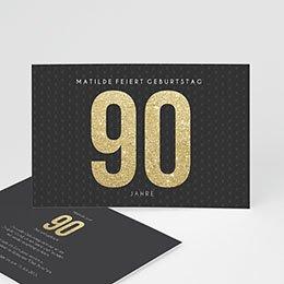 Einlegekarte Anniversaire adulte Goldene 90er