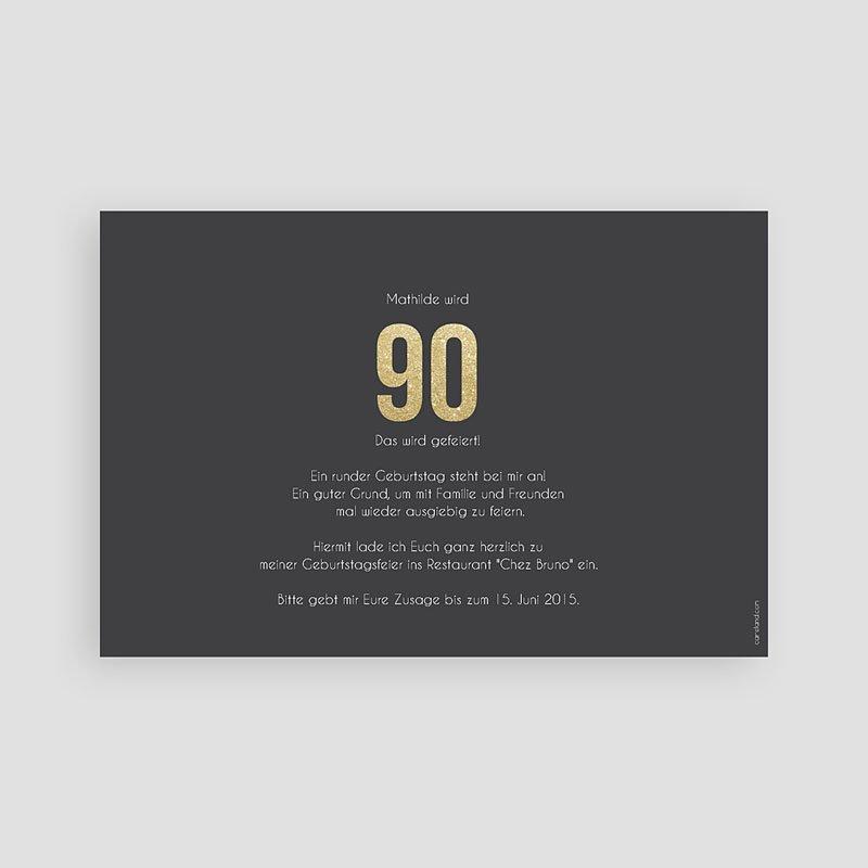 Erwachsener Einladungskarten Geburtstag Goldene 90er pas cher