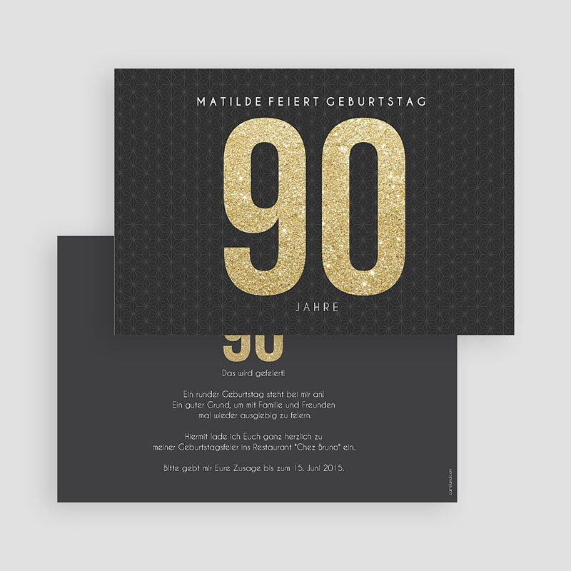 Erwachsener Einladungskarten Geburtstag Goldene 90er gratuit