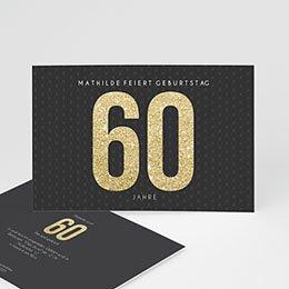 Einlegekarte Anniversaire adulte Goldene 60er